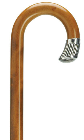 Alpacca Silver Nose Cap on Cherry-stained Crook, men's 36
