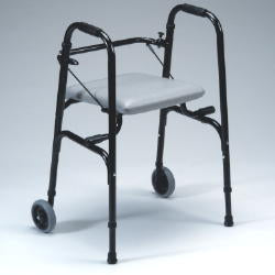 Space Saver Foldable Seat Walker with AutoFold Seat