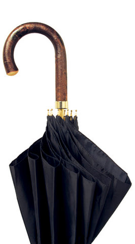 SIERRA Natural Chestnut handle, black umbrella 36