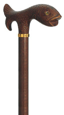 Trout, Fisherman's molded handle walking stick 36