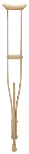 Extra-Tall Adult Underarm Adj Wood Crutches, 6'2