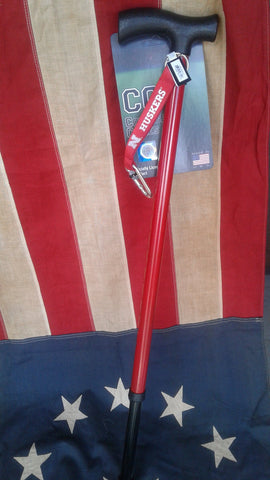 College Canes Nebraska Huskers Red Adjustable Cane with Strap