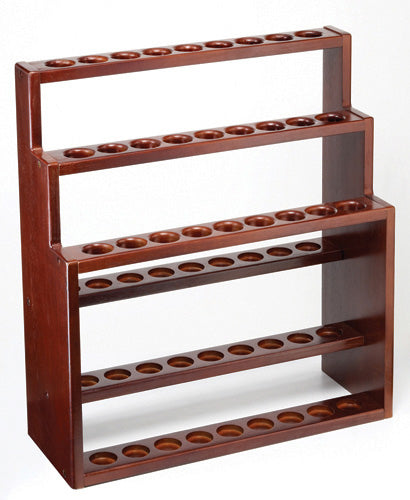 Walnut -stained Hardwood Three-Tier Cane Stand (holds 27)