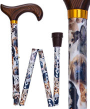 Dogs Derby Adjustable Folding Cane