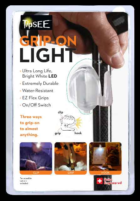 GRIP-ON LIGHT, by Tipsee, fits 3/4