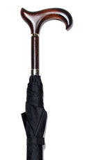 CLASSIC WALNUT DERBY ERGONOMIC BLACK UMBRELLA 38