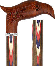 Exotic Wood Eagle, Ovankol wood shaft, 'Colors Don't Run', 37.5