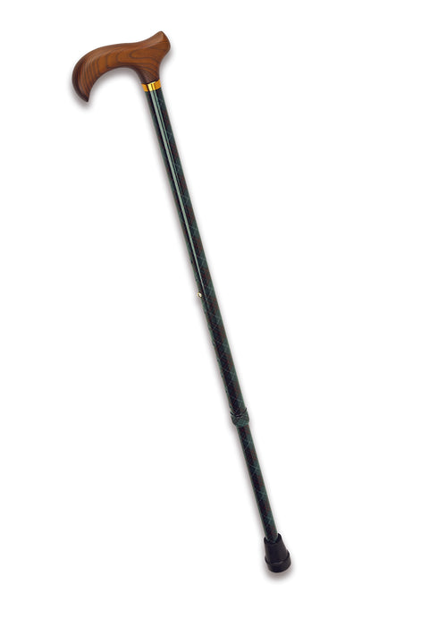 Cool Blue Pediatric Offset Cane, adj 25.5-30.5