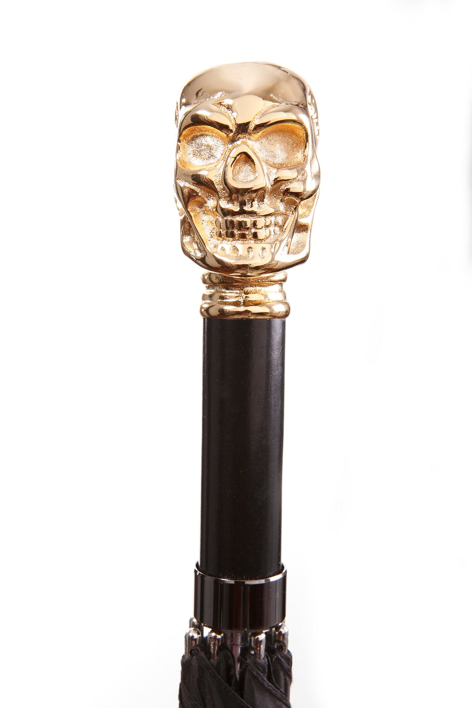 GOTHIC GOLD SKULL umbrella, black 27.5