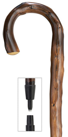 Congo Wood Crook with combi spike/rubber tip, 36