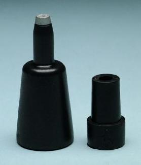Combi-Spike Ferrule with rubber tip, size 1 1/8