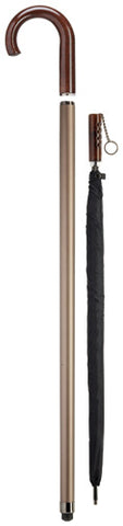 Crook Handle Walking Cane with Umbrella Inside, men's 36