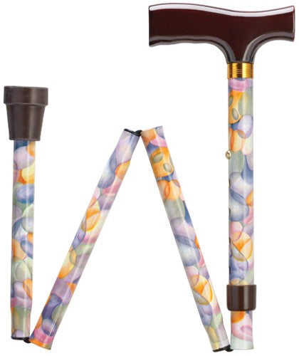 Brown Wood Fritz Folding & Adjustable Walking Cane in 7 Options