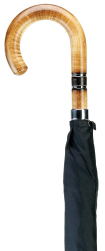 Men's Nickle Banded Maple Wood Crook Umbrella 36
