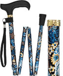 Evening Splendor Floral Adjustable Folding Cane