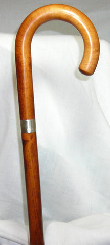 Cherry-stained Maple Wood Crook, STERLING SILVER BAND 36