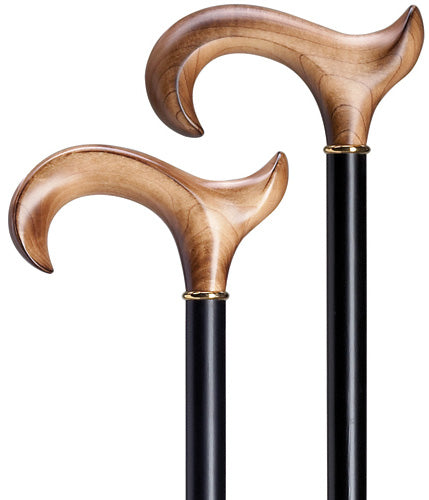 Ladies Scorched Maple Wood ergonomic RIGHT, black wood shaft 36