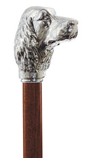 Silver Plated Cocker Spaniel Dog Handle Walking Stick 36