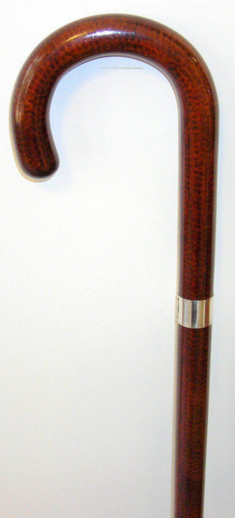 Ladies French High Gloss Snakewood Crook, 14kt Gold Band 36