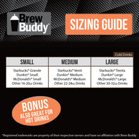 Brew Buddy Insulated Iced Coffee Sleeve | Sloth LARGE