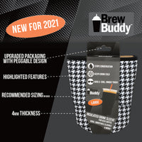 Brew Buddy Insulated Iced Coffee Sleeve | Houndstooth MEDIUM