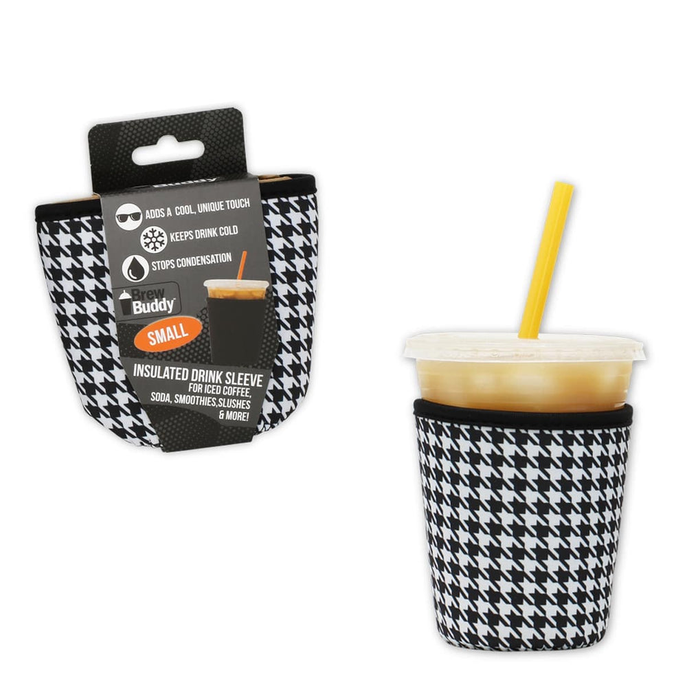 Brew Buddy Insulated Iced Coffee Sleeve | Houndstooth SMALL