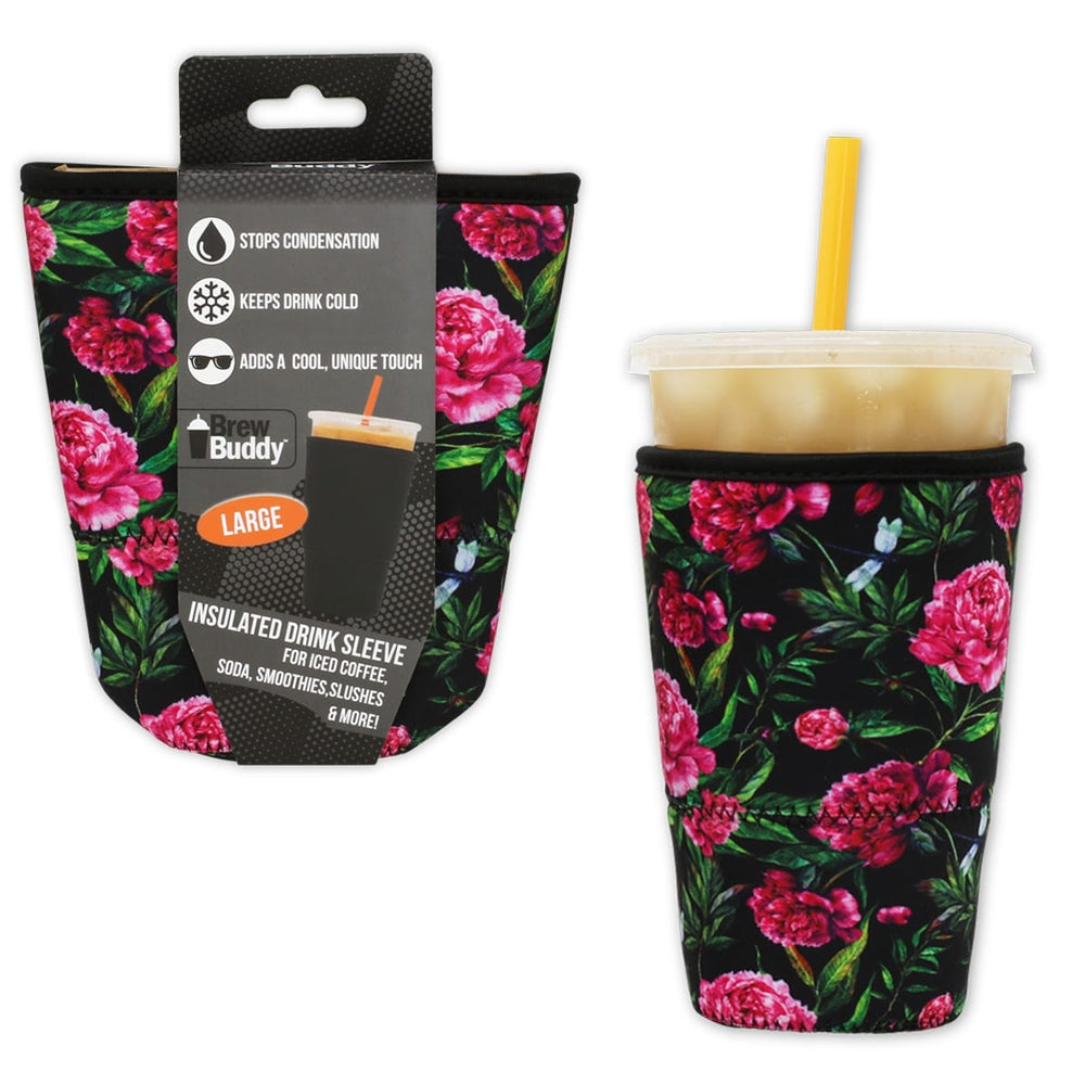 Brew Buddy Insulated Iced Coffee Sleeve | Hydrangea LARGE