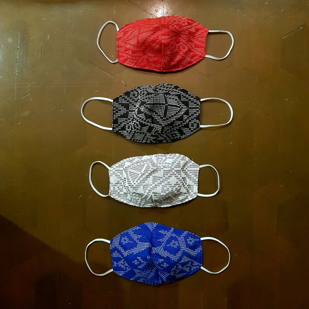 Yakan 3-layer Handwoven Mask w Electrostatic Filter (Non-Medical) - Set of 4