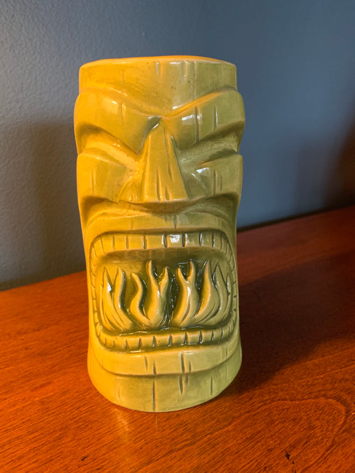 SHIPPED ONLY! First Anniversary GREEN Tiki Mug