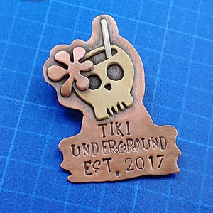 Exclusive TU Skull Pin by Smashfire Designs