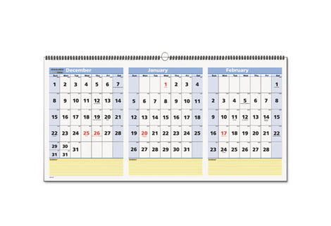 two three month format wall calendars ultimate office