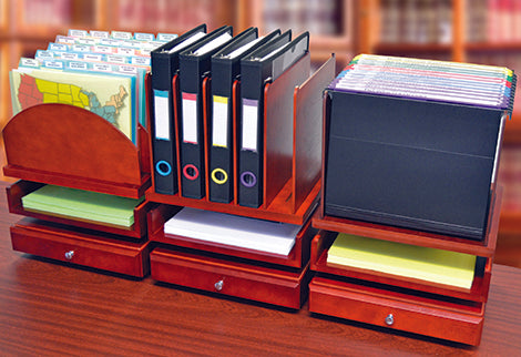WoodWorx™ Stacking Desk Organizers