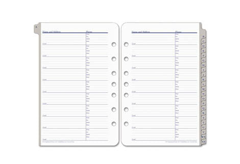 Note Page & Address/Phone Refills