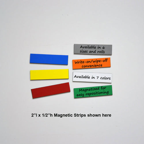 "1/2"" x 2"" Write-On/Wipe-Off Magnets (pack of 25)"
