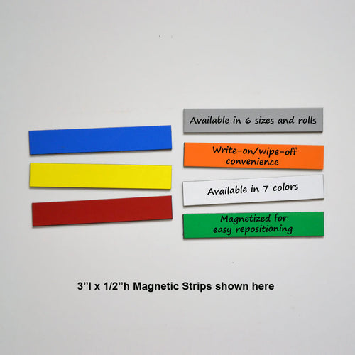"1/2"" x 3"" Write-On/Wipe-Off Magnets (pack of 25)"