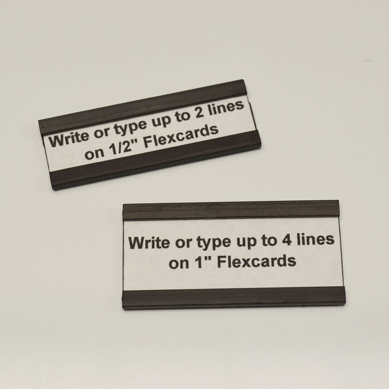 "1/2"" x 4"" Magnetic Cardholders (pack of 25)"