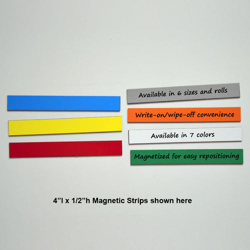 "1/2"" x 4"" Write-On/Wipe-Off Magnets (pack of 25)"