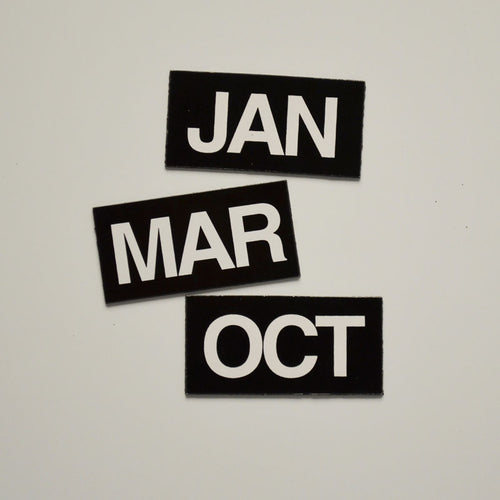 "1"" x 2"" Month Indicator Magnet Set"