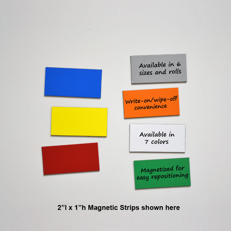 "1"" x 2"" Write-On/Wipe-Off Magnets (pack of 25)"