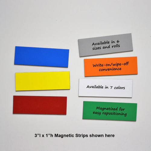 "1"" x 3"" Write-On/Wipe-Off Magnets (pack of 25)"