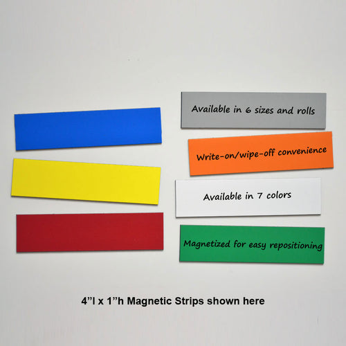 "1"" x 4"" Write-On/Wipe-Off Magnets (pack of 25)"