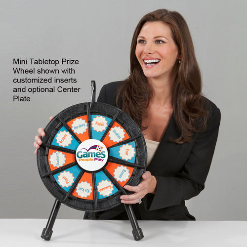 "10-Slot 14"" Micro Tabletop Prize Wheel"