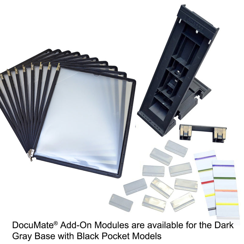 Ultimate Office DocuMate® 10-Pocket Desk Reference Organizer Add-On with Easy-Load Pockets and Steel-Reinforced Pins (Add-On Module Only)