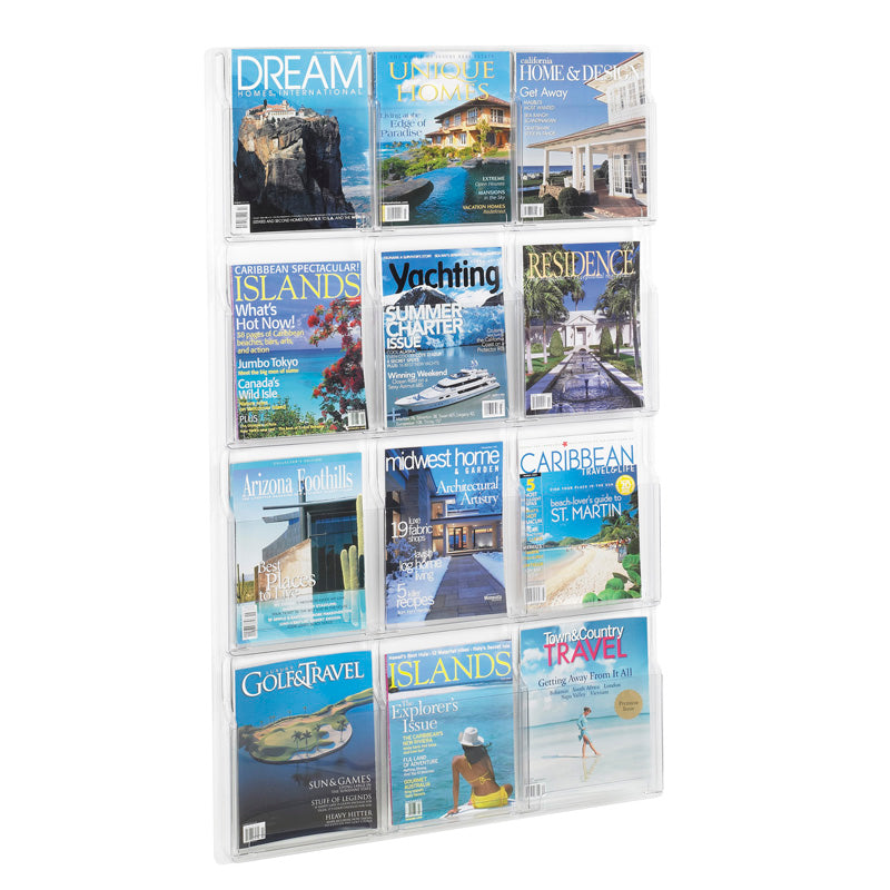 12 Magazine Display Clear (Vertical)