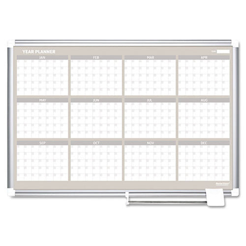 12-Month Planner (January thru December), Aluminum Frame