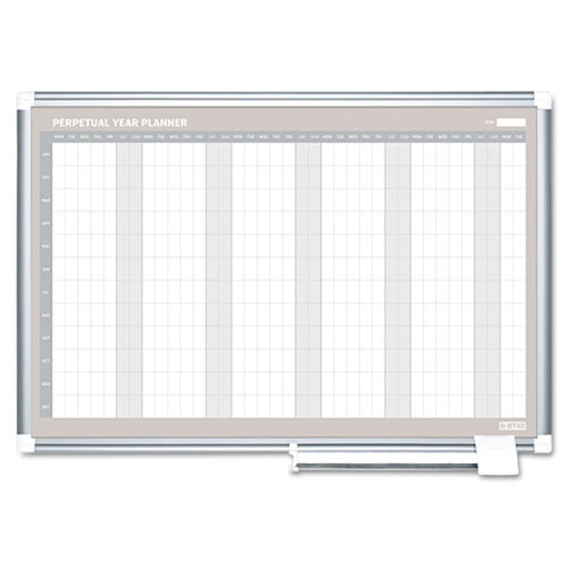 12 month planner perpetual 48 x 36 aluminum ultimate office