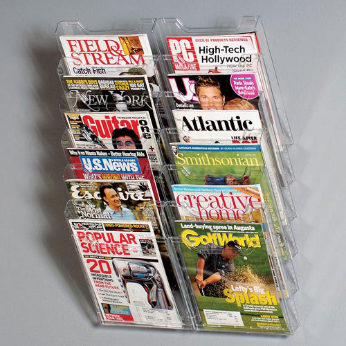 12-Pocket Magazine Display