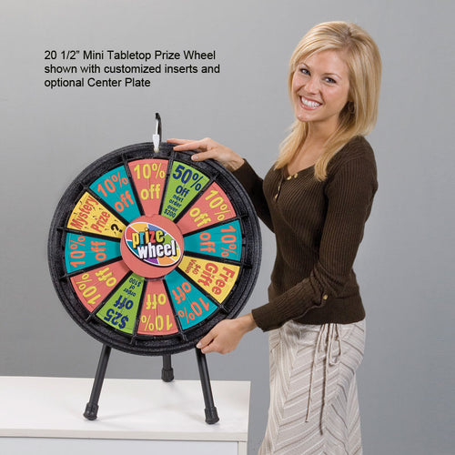 "12-Slot 20 1/2"" Mini Tabletop Prize Wheel"