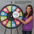 "12-Slot 31"" Tabletop Prize Wheel"