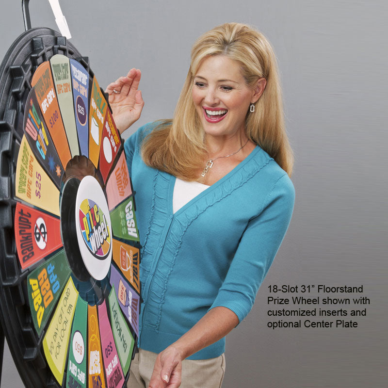 "18-Slot 31"" Floor Stand Prize Wheel"